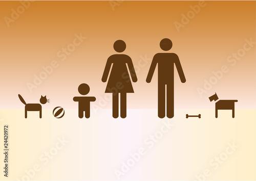 Cuadros en Lienzo Simpe family