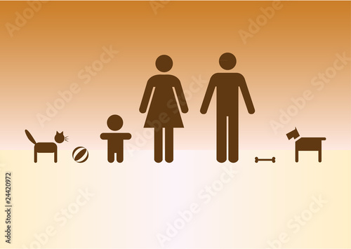 Fotomural  Simpe family