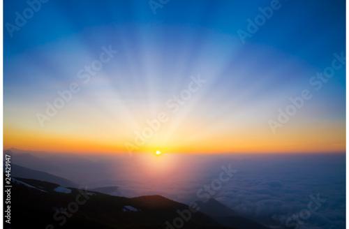 日の出 Fototapeta