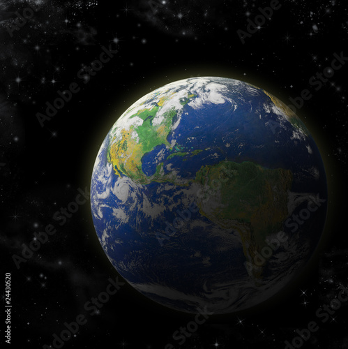 Fototapety, obrazy: Real Earth Planet