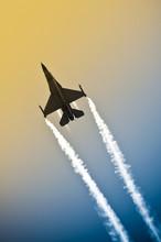 Military Jet Aerobatics Into A...