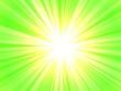 canvas print picture - grüne Strahlen