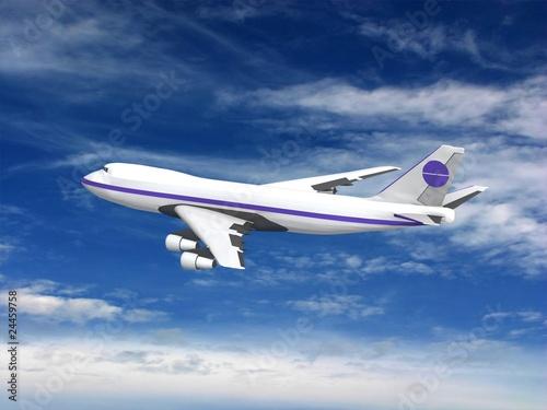 Tuinposter Vliegtuig flying jet airplane