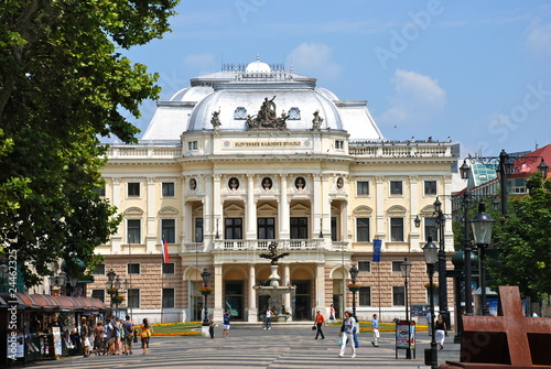 Photo  Slovak national theatre in Bratislava 2010