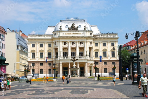 Photo  slovak national theatre in Bratislava summer 2010