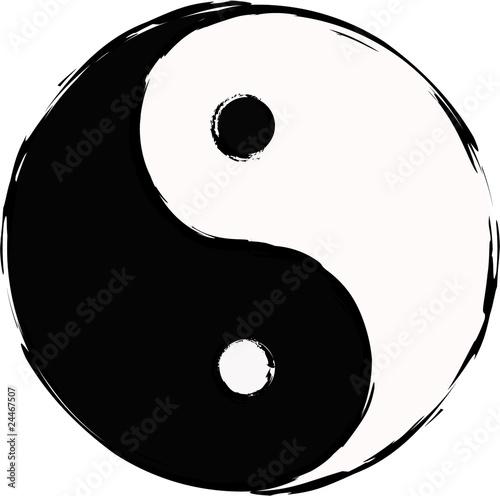 yin and yang Canvas-taulu