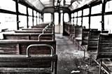 chairs in vintage train