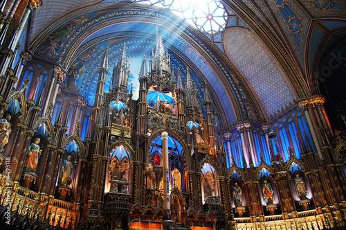 Fototapeta Montreal Notre-Dame Basilica