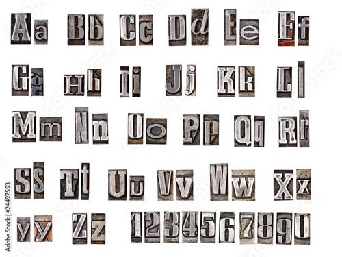Fotografie, Tablou alphabet made from metal letters