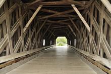 Inside Of Covered Bridge