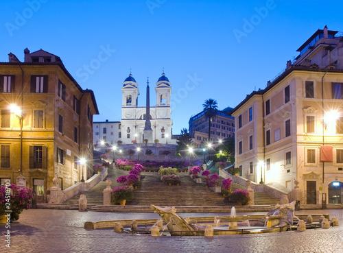 Fotografie, Obraz  Primavera a Trinità dei Monti, Piazza di Spagna, Roma