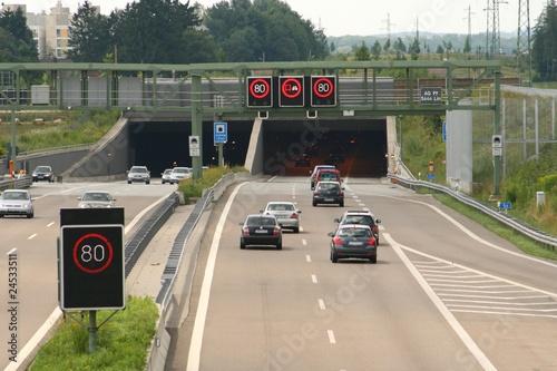 Papiers peints Tunnel Autobahntunnel bei München
