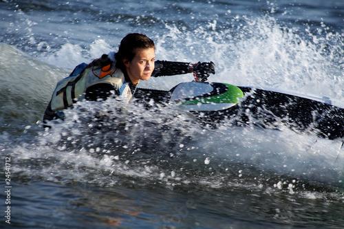 Garden Poster Water Motor sports .beautiful girl riding her jet skis.
