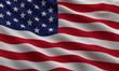 Flag of the USA with highly detailed fabric texture