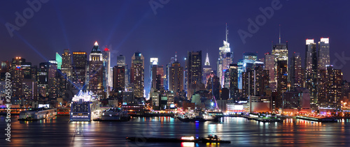 Fototapeta Modern City night scene.