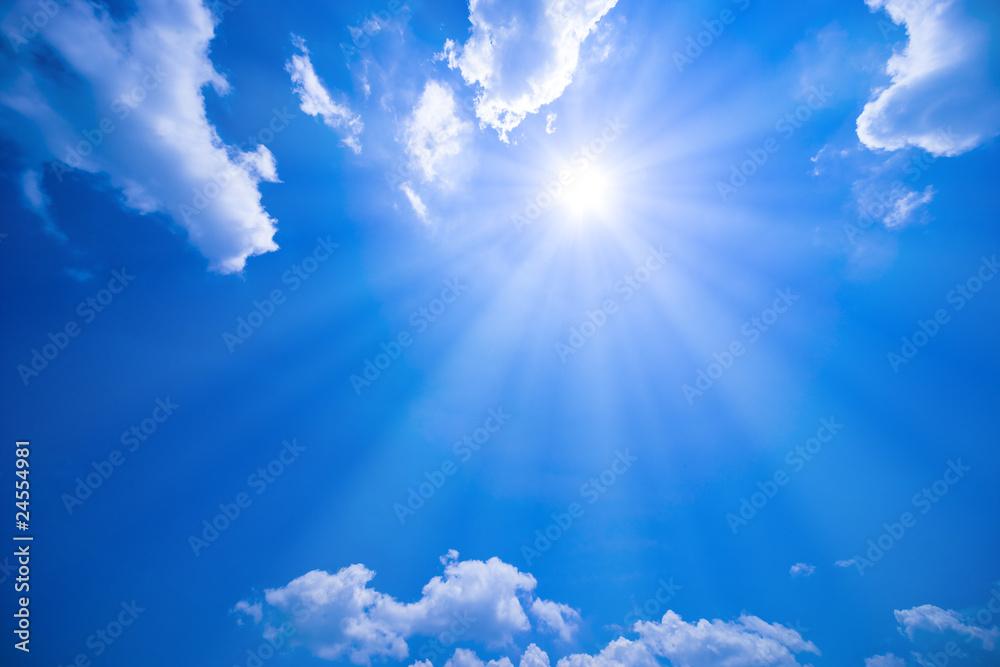Fototapeta 青空と太陽
