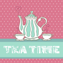 Doodle Tea Time Card