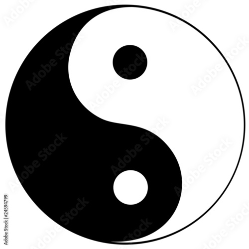 Fotografering  Ying yang symbol of harmony and balance