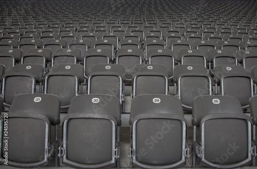 In de dag Stadion Die Sitze