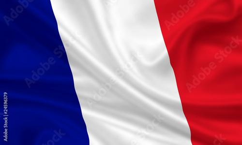Fototapeta Flag of France Frankreich Fahne Flagge Tricolore