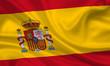 canvas print picture - Flag of Spain Spanien Espannia Fahne Flagge