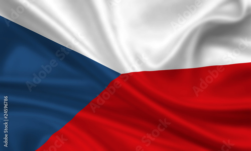 Photo  Flag of Czech Republic Tschechien Fahne Flagge