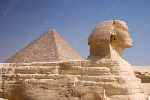 In de dag Egypte Pyramid and Sphinx