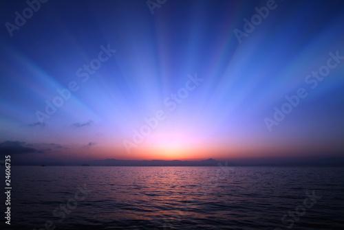 Obraz 夜明け - fototapety do salonu