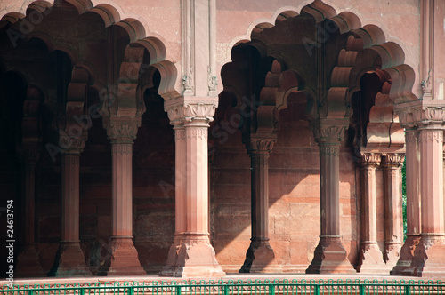 Keuken foto achterwand Delhi Traditional Indian Architecture at the Red Fort in Delhi, India.