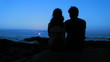 Romantic kiss blue sunset - HD