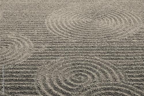 Foto op Plexiglas Stenen in het Zand 箱庭の砂紋