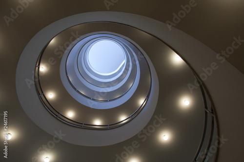 Printed kitchen splashbacks Spiral Modernes Treppenhaus