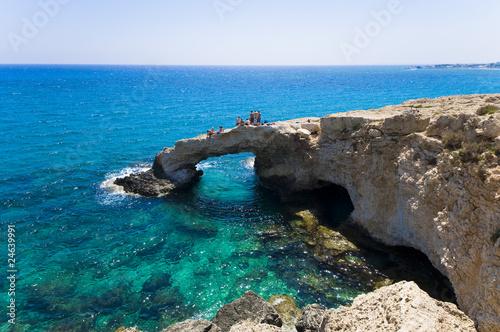 Foto auf AluDibond Zypern Rock arch