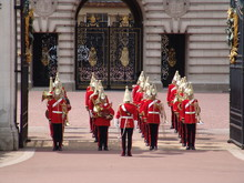 Marching Band At Buckingham Palace, London, UK