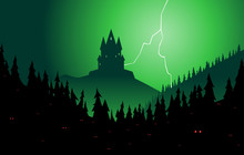 Spooky Forest And Castle