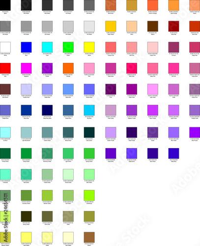 Palette color Canvas Print