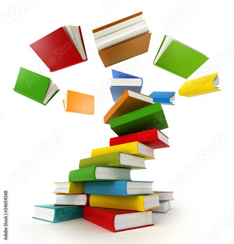 Fotografie, Obraz  Books Tornado . Isolated on white.