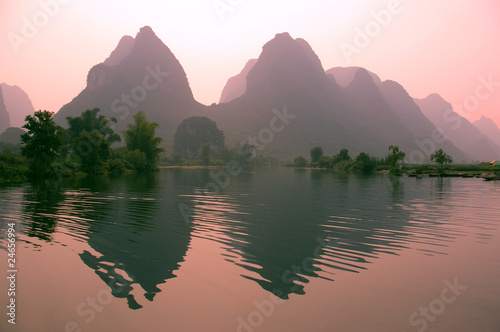 Foto auf AluDibond Guilin Yangsho landscape with clipping paths