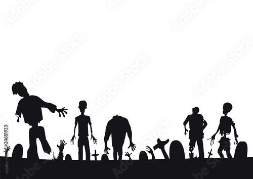 Valokuva Halloween zombies coming at ya - page footer