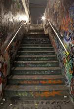 Graffitied Urban Stairway