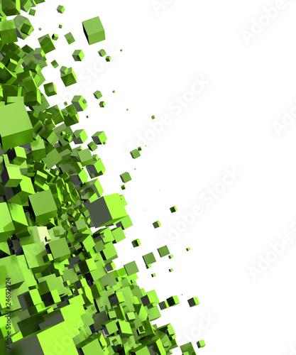 3d-tlo-latajacy-szescian-zielen