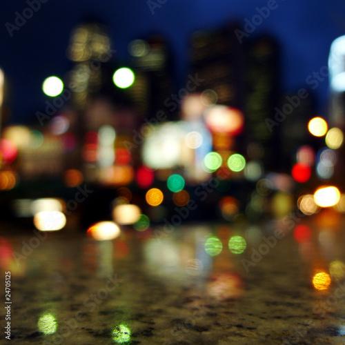 In de dag Las Vegas Night lights in downtown Shinjuku