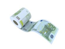 Euro Toilet Paper 3d Illustrat...