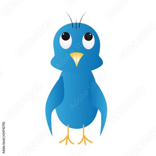 Foto auf AluDibond Ziehen Blauer Vogel