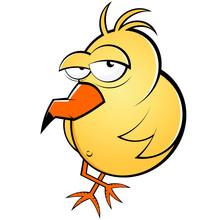 Vogel Cartoon Lustig Müde Wit...