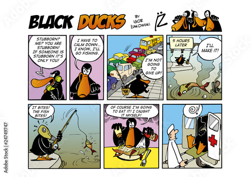 Foto op Plexiglas Comics Black Ducks Comic Strip episode 48