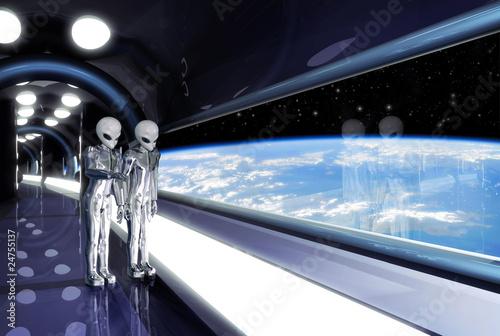 Fotografía  aliens looking down