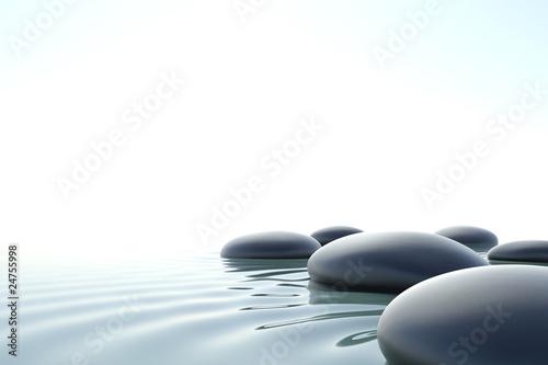 Deurstickers Zen Zen water