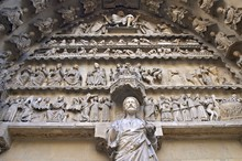 Rheims Cathedral, Detail Of Portal