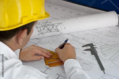 Vászonkép Architekt